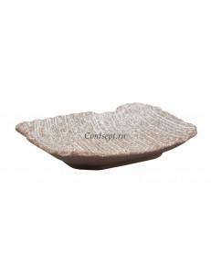 Тарелка прямоугольная 26х20х4,3 см серия Untouched Taiga матовый фарфор PL Proff Cuisine