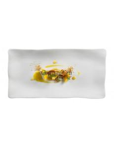 Тарелка прямоугольная 33х20см матовый фарфор PORDAMSA серия Gastro