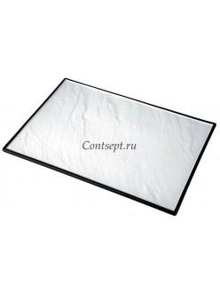 Тарелка прямоугольная 35х25см с черным основанием фарфор PL Proff Cuisine