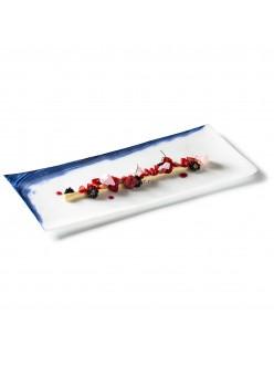 Тарелка прямоугольная 41х18см стекло PORDAMSA серия Oia