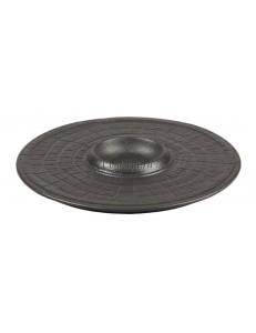 Тарелка рифленная с выемкой 25 см фарфор PL Proff Cuisine серия Black star