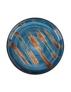 Тарелка с бортом 23 см серия Texture Dark Blue lines фарфор PL Proff Cuisine