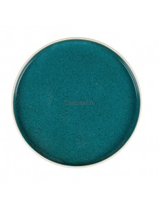 Тарелка с бортом 26х1,8 см серия Blue Taiga матовый фарфор PL Proff Cuisine