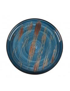 Тарелка с бортом 28 см серия Texture Dark Blue lines фарфор PL Proff Cuisine
