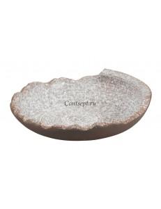 Тарелка с неровными краями 23х6,5см  серия Untouched Taiga матовый фарфор PL Proff Cuisine