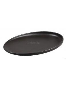 Тарелка со скошенным бортом 27 см фарфор PL Proff Cuisine серия Black star