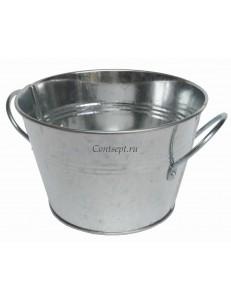 Ведро для подачи 1,2 л  10х14,5 см нержавеющая сталь