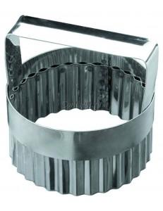 Высечка Кольцо волнистое с ручкой 8х5,5см нержавеющая сталь
