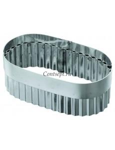 Высечка для слоеного языка без ручки 7х13х5,5см нержавеющая сталь
