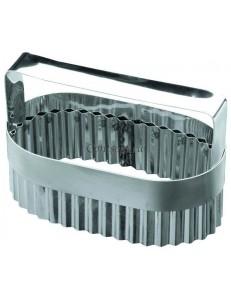 Высечка для слоеного языка с ручкой 7х13х5,5см нержавеющая сталь