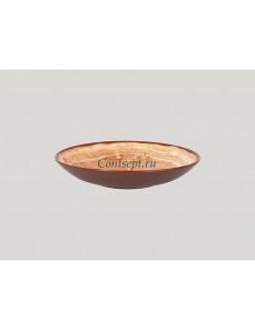 Салатник 23см 690мл красно-коричневый фарфор RAK серия Woodart