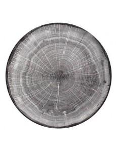 Тарелка мелкая 15см серая фарфор RAK серия Woodart